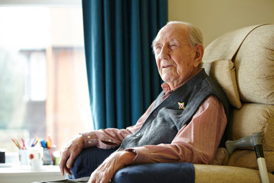 elderly care home resident of Royal Star & Garter by Janie Airey photographer